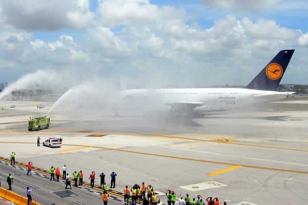 Airbus 380 en Miami